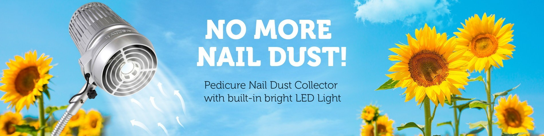 Pedicure nail dust collector - SUNFLOWER