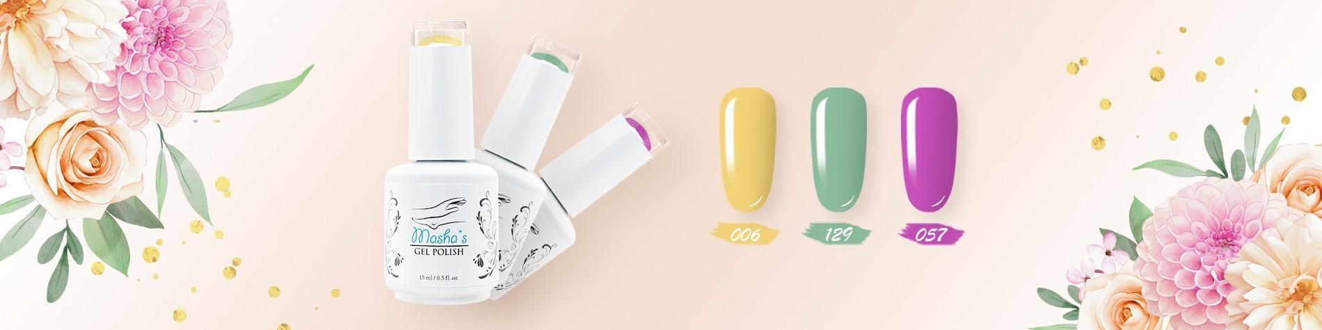 Masha`s gel polish banner Spring has come for desktop 01